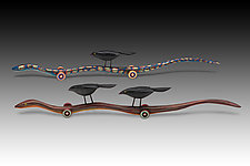 Snake Riders by Dona Dalton (Wood Sculpture)