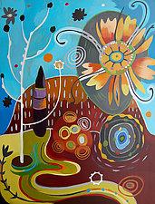Tambourine Garden by Teresa Cox (Acrylic Painting)