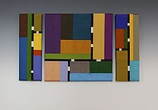 Color Story: Triptych by Sonya Lee Barrington (Fiber Wall Art)