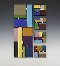 Color Story: Quintet by Sonya Lee Barrington (Fiber Wall Art)