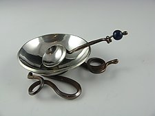 Salt Cellar & Spoon by Carey Smith (Metal Serving Dish)