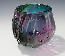 Aqua Green Fade Bowl by Melissa  Misoda (Art Glass Bowl)