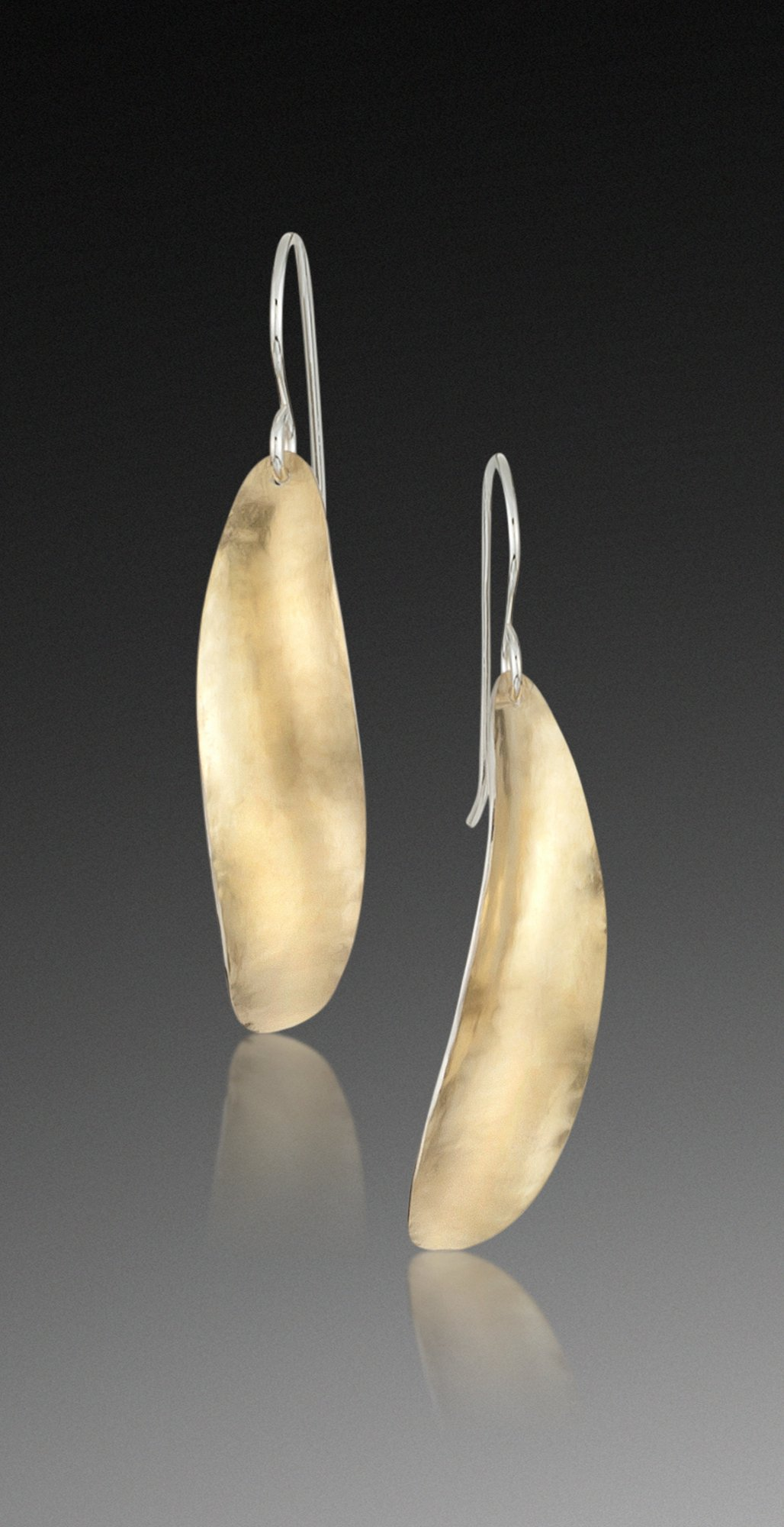 Oval Earrings in Bimetal