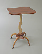 Small Table #9 by Charles Adams (Wood Side Table)