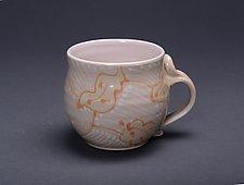 Orange Cup by Lauren Kearns (Ceramic Mug)