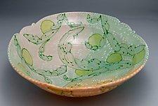 Wide Scroll Bowl by Lauren Kearns (Ceramic Bowl)