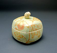 Homage Box in Gold by Lauren Kearns (Ceramic Box)