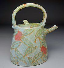 Curry Leaves Teapot by Lauren Kearns (Ceramic Teapot)