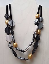 Andrea Two Strand Necklace by Klara Borbas (Beaded Necklace)