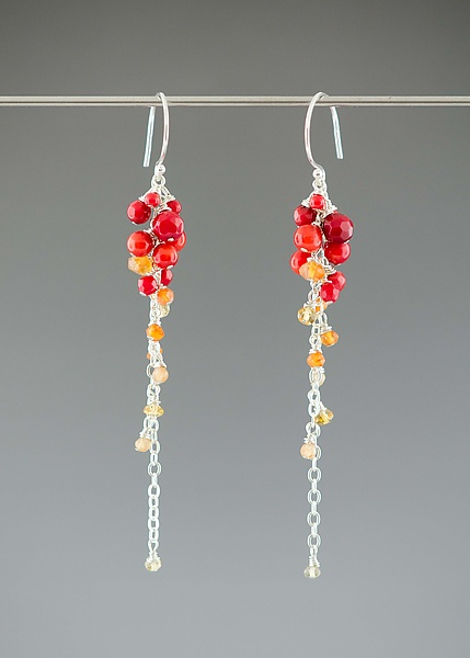Warm-Toned Gradient Gem Earrings