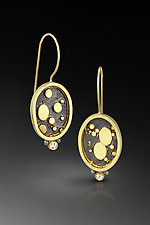 Black and Gold Earrings by Patty Schwegmann (Gold, Silver & Stone Earrings)
