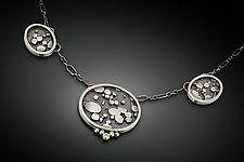Three Oval Necklace by Patty Schwegmann (Gold, Silver, & Stone Necklace)