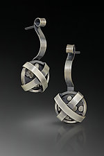 Wrapped Up Earrings by Patty Schwegmann (Silver Earrings)