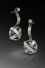 Wrapped Up Earrings by Patty Schwegmann (Silver Earrings)