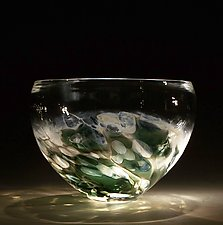 Ocean Bowl by Caleb Nichols (Art Glass Bowl)