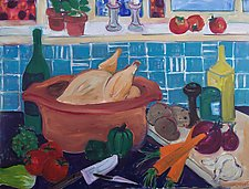 Dinner by Elisa Root (Oil Painting)