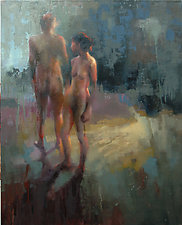 Figures 2 by Cathy Locke (Oil Painting)