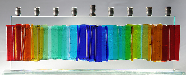 Medium Gala Rainbow Menorah