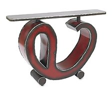 Red Sway Console Table by Ben Gatski and Kate Gatski (Metal Console Table)