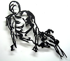 Reclining Model by Paul Arsenault (Metal Wall Sculpture)