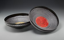 Rimmed Persian Bowl by Suzanne Crane (Ceramic Bowl)