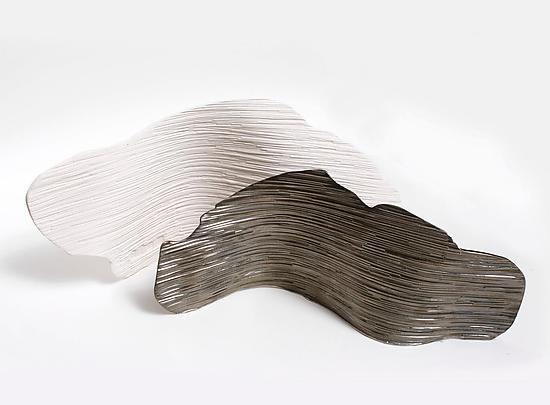 Textured Planes by Muhammad Moussa (Ceramic Sculpture)