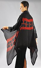 Red Squares Willow Vest by Michael Kane  (Silk Scarf)