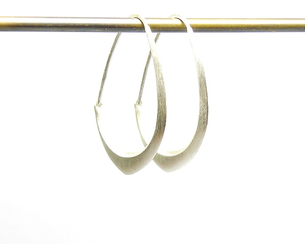 Small Silver Facet Hoops