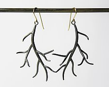 Medium Branch Earrings by Hannah Blount (Silver Earrings)