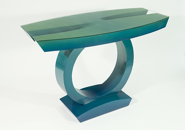 Teal to Green Hall Table