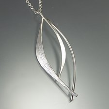 Forged Leaf Pendant by Susan Panciera (Silver Necklace)