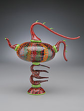 Parrot Teapot by Scott Simmons (Art Glass Teapot)