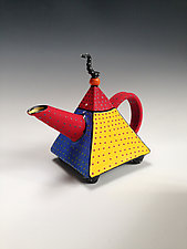 Primary Pyramid Teapot by Vaughan Nelson (Ceramic Teapot)