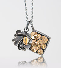 Charm Necklace 7 by Lori Gottlieb (Gold & Silver Necklace)