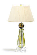 Jewel Lamp in Kiwi by Tracy Glover (Art Glass Table Lamp)