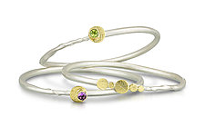 Simple Eclipse Bracelets by Christine MacKellar (Gold, Silver, & Stone Bracelet)