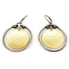 Two Tone Stirrup Earrings by Lisa Crowder (Gold & Silver Earrings)