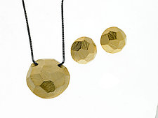Carved Rock Earrings and Neclace by Heather Guidero (Gold & Silver Jewelry)