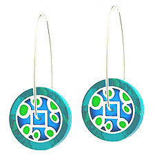 Lollipop Geometric Circular Earrings by Victoria Varga (Resin Earrings)