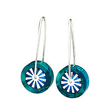 Explosion Chrysocolla Lollipops by Victoria Varga (Resin Earrings)