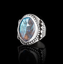 Southwest Labradorite Ring by Ashley Vick (Silver & Stone Ring)
