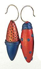 Summer Asymmetrical Pod Earrings by Loretta Lam (Polymer Clay Earrings)