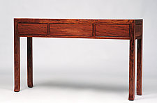 Three Panel Console by Alan Powell (Wood Console Table)