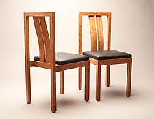 Cherry Dining Chairs by Alan Powell (Wood Chair)