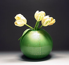 Gold Vase in Green by Scott Summerfield (Art Glass Vase)