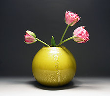 Gold Vase in Mustard by Scott Summerfield (Art Glass Vase)