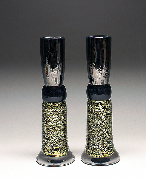 Black & Gold Candlestick Set