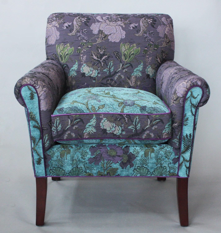 Merveilleux Salon Chair In Lavender Vine By Mary Lynn Ou0027Shea (Upholstered Chair) |  Artful Home