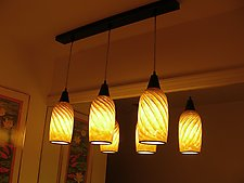 Striped Pendant by Mark Rosenbaum (Art Glass Pendant Lamp)