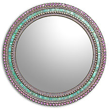 Seafoam Purple by Angie Heinrich (Mosaic Mirror)